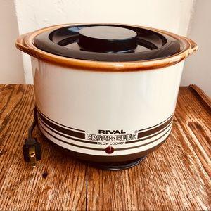 Vintage Rival Crock-Ette Crockpot 1QT—Almond